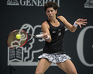 Carla Suarez Navarro (ESP) during the WTA Generali Ladies Open at TipsArena, Linz<br /> Picture by EXPA Pictures/Focus Images Ltd 07814482222<br /> 11/10/2016<br /> *** UK & IRELAND ONLY ***<br /> <br /> EXPA-REI-161011-5007.jpg