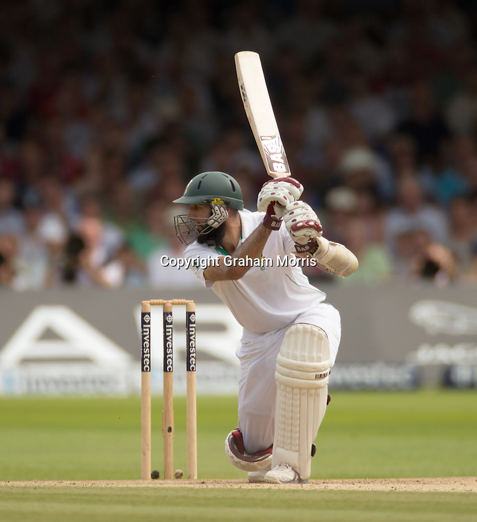 Hashim Amla bats during the third and final Investec Test Match between England and South Africa at Lord's Cricket Ground, London. Photo: Graham Morris (Tel: +44(0)20 8969 4192 Email: sales@cricketpix.com) 19/08/12