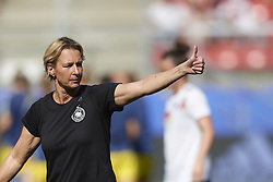 June 29, 2019 - Rennes, France - Martina Voss-Tecklenburg head coach of Germany during the warm-up before the 2019 FIFA Women's World Cup France Quarter Final match between Germany and Sweden at Roazhon Park on June 29, 2019 in Rennes, France. (Credit Image: © Jose Breton/NurPhoto via ZUMA Press)