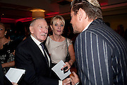 Leslie Phillips, London Lifestyle Awards. Riverbank Park Plaza. London.6 October 2011. <br /> <br />  , -DO NOT ARCHIVE-© Copyright Photograph by Dafydd Jones. 248 Clapham Rd. London SW9 0PZ. Tel 0207 820 0771. www.dafjones.com.
