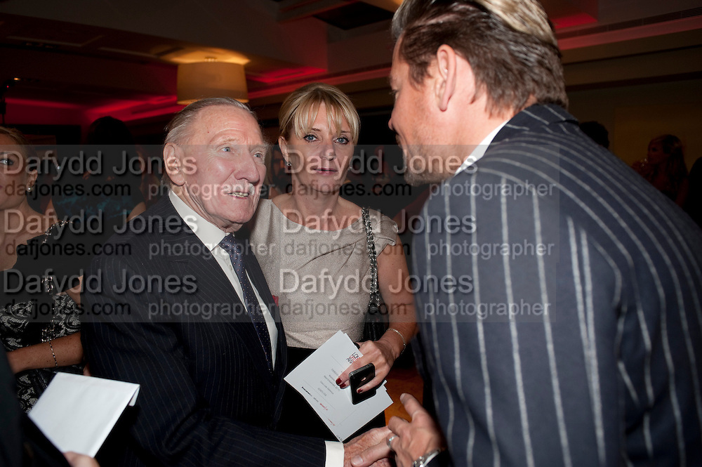 Leslie Phillips, London Lifestyle Awards. Riverbank Park Plaza. London.6 October 2011. <br /> <br />  , -DO NOT ARCHIVE-&copy; Copyright Photograph by Dafydd Jones. 248 Clapham Rd. London SW9 0PZ. Tel 0207 820 0771. www.dafjones.com.
