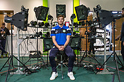 Forest Green Rovers Luke James(33) has his face scanned for FIFA18 during the Forest Green Rovers Photocall at the New Lawn, Forest Green, United Kingdom on 31 July 2017. Photo by Shane Healey.