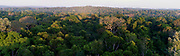 Large panorama of the Amazon rainforest. Area of Cristalino, southern Amazon, Brazil.