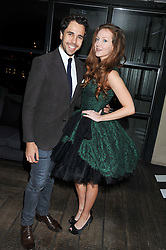 OLIVIA GRANT and DIEGO BIVERO-VOLPE at the InStyle Best of British Talent Event in association with Lancôme and Avenue 32 held at The Rooftop Restaurant, Shoreditch House, Ebor Street, London E1 on 30th January 2013.