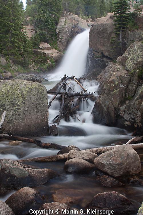 Alberta Falls in Glacier Gorge, Rocky Mountain National Park, Colorado.