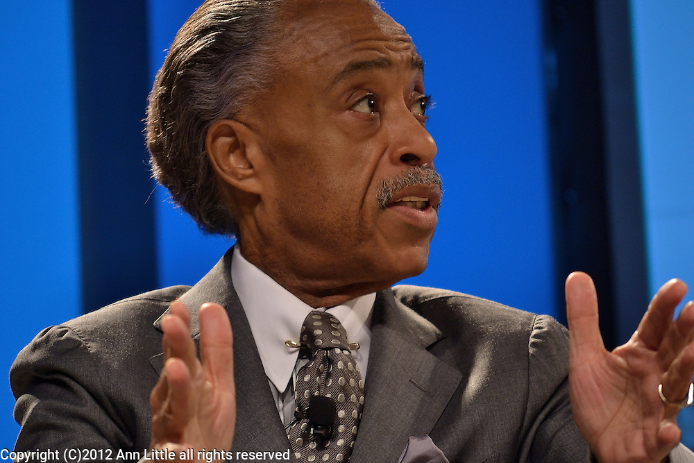 Rev. Al Sharpton speaks to a conference sponsored by Congressional Black Caucus.