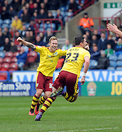 Stephen Ward (23) of Burnley scores the opening goal during the Sky Bet Championship match at the John Smiths Stadium, Huddersfield<br /> Picture by Graham Crowther/Focus Images Ltd +44 7763 140036<br /> 12/03/2016