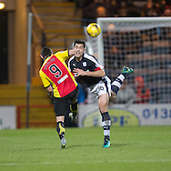 Dundee&rsquo;s Julen Etxabeguren and Partick Thistle's Kris Doolan - Dundee v Partick Thistle in the Ladbrokes Scottish Premiership at Dens Park, Dundee.Photo: David Young<br /> <br />  - &copy; David Young - www.davidyoungphoto.co.uk - email: davidyoungphoto@gmail.com