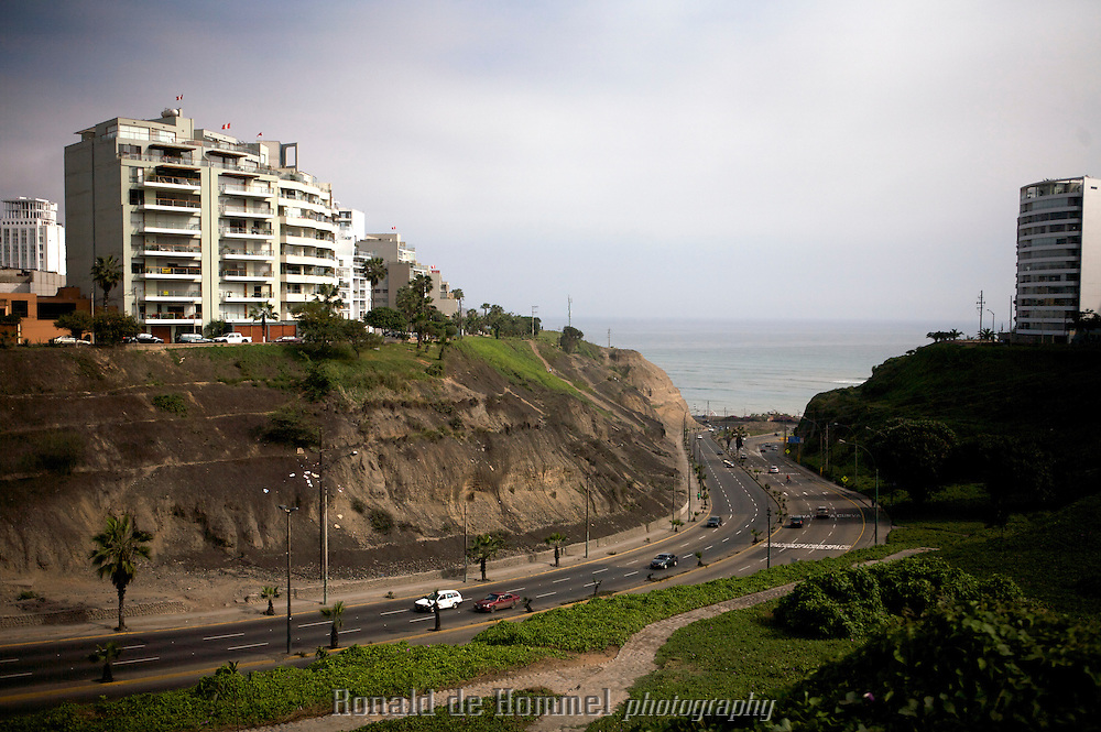 The Pacific Coast in Lima.