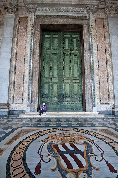 The historic bronze doors of St. John Lateran Basilica in Rome. (Sam Lucero photo)