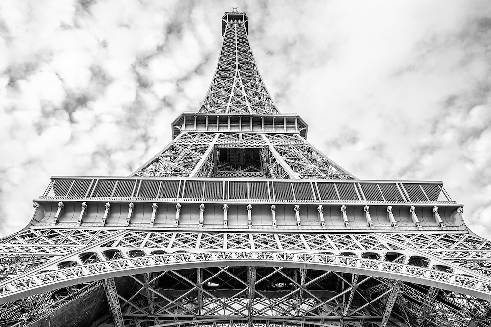 Where: Paris France. The Eiffel tower from a different angle.