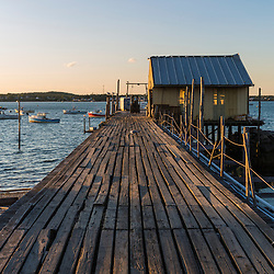A dock at Great Wass Lobster in Beals, Maine.