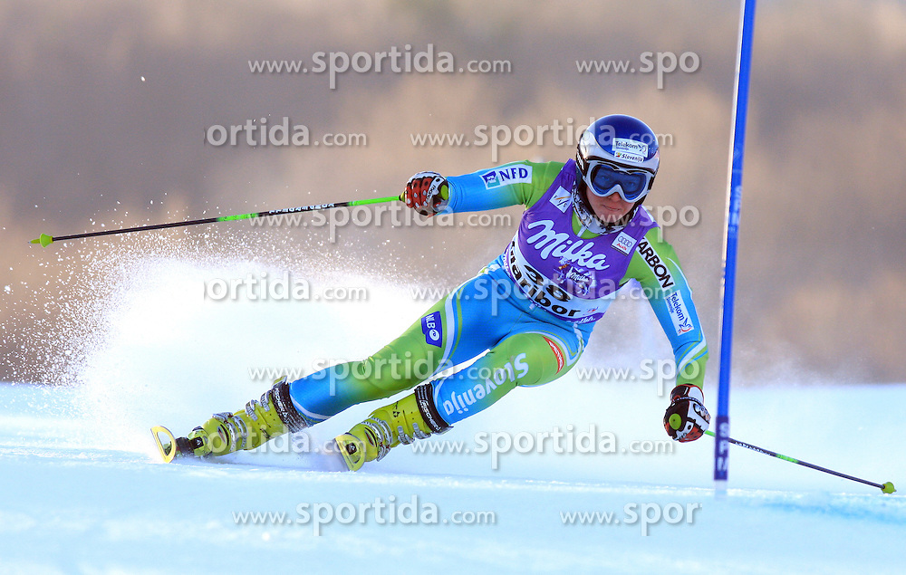 Marusa Ferk of Slovenia skiing in first run Maribor women giant slalom race of Audi FIS Ski World Cup 2008-09, in Maribor, Slovenia, on January 10, 2009. (Photo by Vid Ponikvar / Sportida)