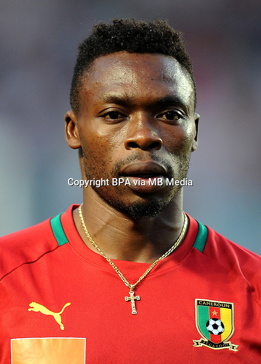 Football Fifa Brazil 2014 World Cup Matchs-Qualifier / Africa - Play-Off / <br /> Tunisia vs Cameroon 0-0  ( Olympic Stadium of Rades , Tunis-Rades , Tunisia ) <br /> Idriss KAMENI of Cameroon , during the match between Tunisia and Cameroon
