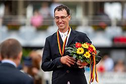 KÖLZ Michael (GER)<br /> Balve - Optimum Deutsche Meisterschaft Dressur und Springen 2018<br /> Finale Deutsche Meisterschaft im Springreiten<br /> 2. Umlauf<br /> 10. Juni 2018<br /> © www.sportfotos-lafrentz.de/Stefan Lafrentz