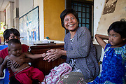 Thol Choy 46 single mother of four from Samrong district, Oddor Meanchey province has been completely blind with cataract for years. This is a story of her sight restoration. She lives in makeshift home with her four children Nhainh 17 her eldest son, Yea, middle son 8 and youngest son Chet 1 Thass, her 4 year old daughter.
