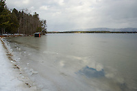Leavitt Beach in Meredith during the winter.   Karen Bobotas for the Laconia Daily Sun
