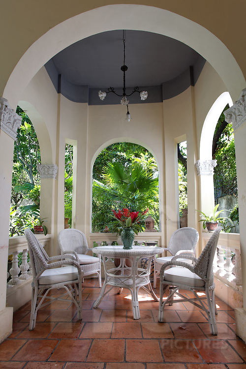 Large Veranda Of A French Colonial House Key Feature Architecture Left In