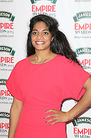 Amara Karan, Jameson Empire Film Awards, Grosvenor House Hotel, London UK, 30 March 2014, Photo by Richard Goldschmidt
