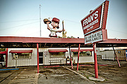 An old burger joint on South Congress Avenue, Austin, Texas