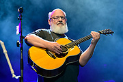 """Kyle Gass of Tenacious D performs during  """"Tenacious D in Post-Apocalypto The Tour 2019"""" at Ascend Amphitheater in Nashville."""