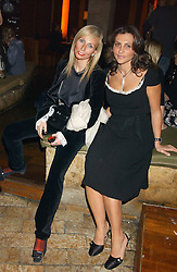 Left to right, MARGARITA WENNBERG and ELLA KRASNER at a party hosted by Daniella Helayel of fashion label ISSA held at Taman Gang, 141 Park Lane, London on 15th February 2006.<br />