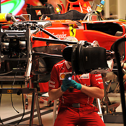 Mechanics trying to beat the curfew.<br /> Scuderia Ferrari.<br /> <br /> Round 1 - 2nd day of the 2017 Formula 1 Rolex Australian Grand Prix at The circuit of Albert Park, Melbourne, Victoria on the 24th March 2017.<br /> Wayne Neal | SportPix.org.uk