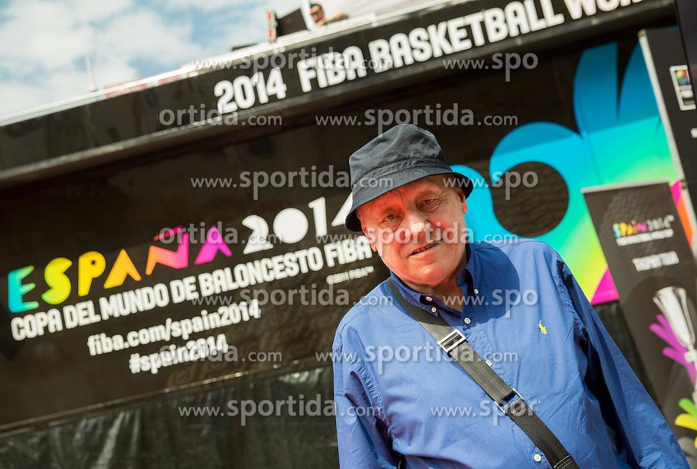 Mirko Novosel at FIBA Basketball World Cup Spain 2014 Trophy Tour, on June 22, 2014 in Ban Jelacic Square, Zagreb, Croatia. Photo By Vid Ponikvar / Sportida