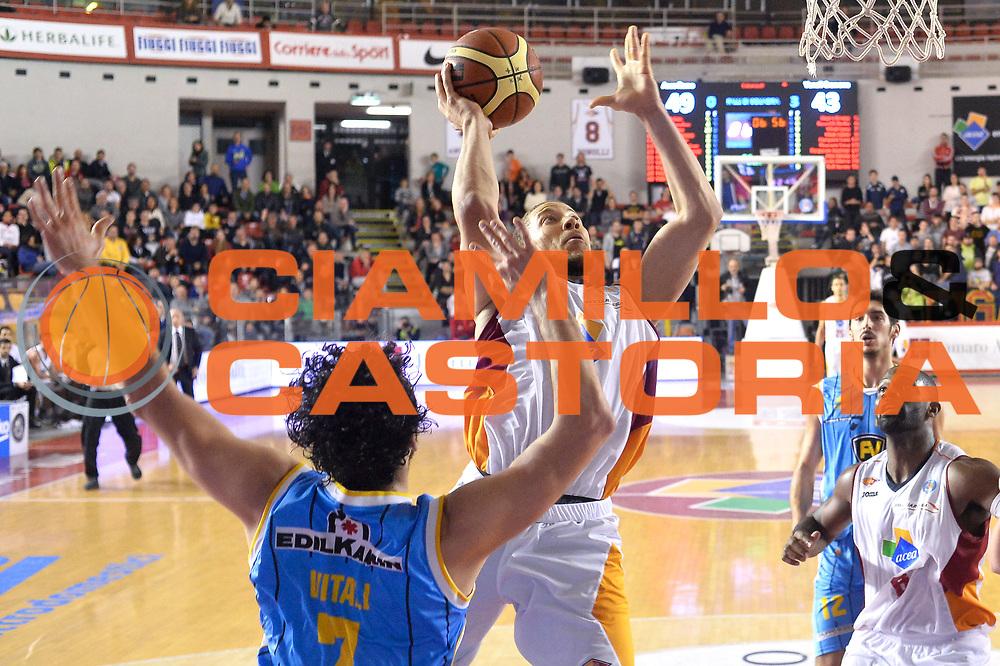 DESCRIZIONE : Roma Lega A 2014-15 Acea Roma vs Vanoli Basket Cremona<br /> GIOCATORE : Triche Brandon<br /> CATEGORIA : Special Tiro<br /> SQUADRA : Acea Roma<br /> EVENTO : Campionato Lega A 2014-2015 GARA : Acea Roma vs Vanoli Basket Cremona<br /> DATA : 07/12/2014 <br /> SPORT : Pallacanestro <br /> AUTORE : Agenzia Ciamillo-Castoria/GiulioCiamillo <br /> Galleria : Lega Basket A 2014-2015 <br /> Fotonotizia : Acea Roma Lega A 2014-15 Acea Roma vs Vanoli Basket Cremona<br /> Predefinita :