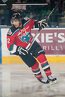 KELOWNA, CANADA - NOVEMBER 9:  Tyrell Goulbourne #12 of the Kelowna Rockets skates on the ice against the Red Deer Rebels at the Kelowna Rockets on November 9, 2012 at Prospera Place in Kelowna, British Columbia, Canada (Photo by Marissa Baecker/Shoot the Breeze) *** Local Caption ***