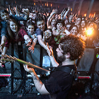 Oxford rock band Foals play to a sold out O2 Academy in Glasgow (PLEASE DO NOT REMOVE THIS CAPTION)<br /> This image is intended for portfolio use only.. Any commercial or promotional use requires additional clearance. <br /> © Copyright 2014 All rights protected.<br /> first use only<br /> contact details<br /> Stuart Westwood <br /> 07896488673<br /> stuartwestwood44@hotmail.com<br /> no internet usage without prior consent. <br /> Stuart Westwood reserves the right to pursue unauthorised use of this image . If you violate my intellectual property you may be liable for damages, loss of income, and profits you derive from the use of this image.