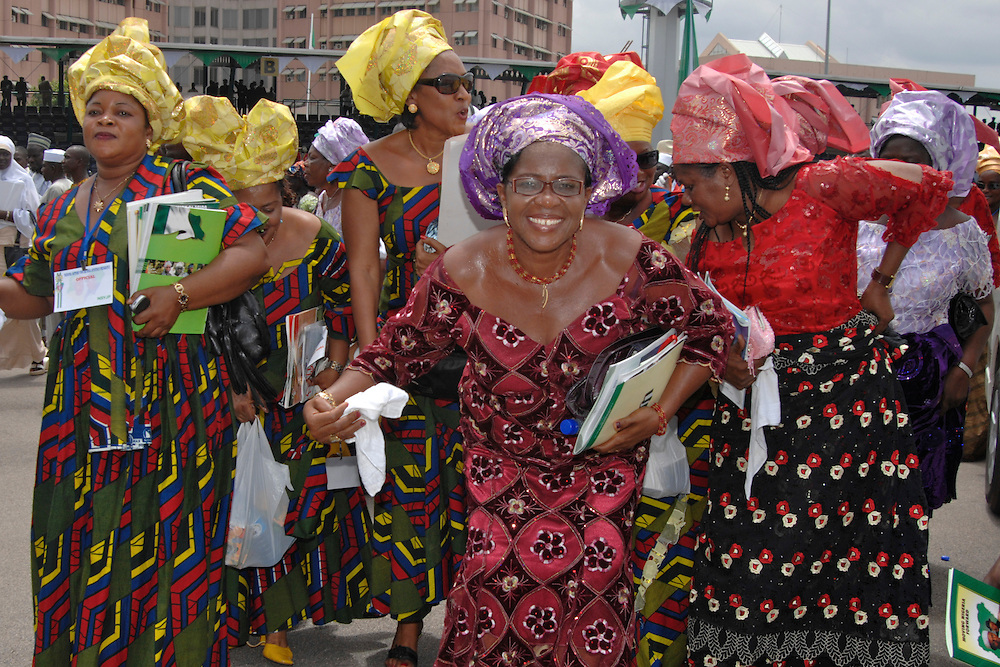 Dancing Nigerian women at Inauguration of the new President of Nigeria