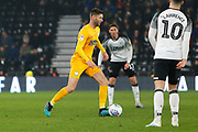 Paul Gallagher in action during the EFL Sky Bet Championship match between Derby County and Preston North End at the Pride Park, Derby, England on 23 November 2019.
