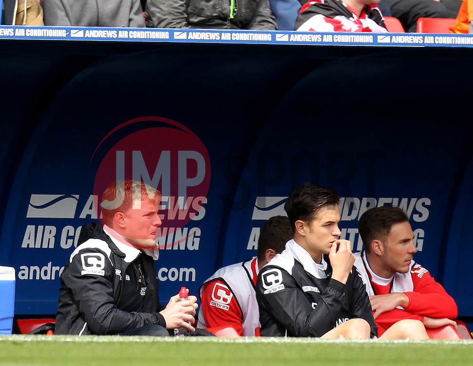 Bournemouth Manager, Eddie Howe - Photo mandatory by-line: Robbie Stephenson/JMP - Mobile: 07966 386802 - 02/05/2015 - SPORT - Football - Charlton - The Valley - Charlton v AFC Bournemouth - Sky Bet Championsip