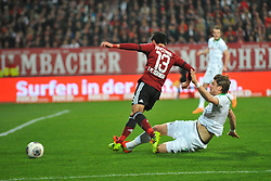 08.03.2014, easyCredit Stadion, Nuernberg, GER, 1. FBL, 1. FC Nuernberg vs SV Werder Bremen, 24. Runde, im Bild Sebastian Proedl (Werder Bremen / rechts) kann Hiroshi Kiyotake (1 FC Nuernberg / Mitte) mit einer Graetsche vom Ball trennen Duell, Zweikampf, Action / Aktion // during the German Bundesliga 24th round match between 1. FC Nuernberg and SV Werder Bremen at the easyCredit Stadion in Nuernberg, Germany on 2014/03/08. EXPA Pictures © 2014, PhotoCredit: EXPA/ Eibner-Pressefoto/ Merz<br /> <br /> *****ATTENTION - OUT of GER*****