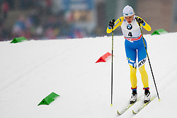 Valentina Chevchenko of Ukraine during Womens 5km Classic individual start of the Tour de Ski 2014 of the FIS cross country World cup on January 4th, 2014 in Cross Country Centre Lago di Tesero, Val di Fiemme, Italy. (Photo by Urban Urbanc / Sportida)