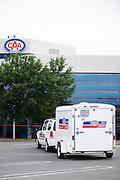 Vehicule et remorque de transport du simulateur de conduite Virage de CAA Québec -  CAA Québec / Québec / Canada / 2009-07-23, © Photo Marc Gibert / adecom.ca