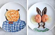 Breakfast on West Elm Dapper Animal Plates  designed by Rachel Kozlowski