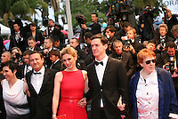 Sarah Neal, Franck Finance Madureira, Julie Gayet, Sam Ashby,  Moira Sullivan  attending the gala screening of Amour at the 65th Cannes Film Festival. Sunday 20th May 2012 in Cannes Film Festival, France.