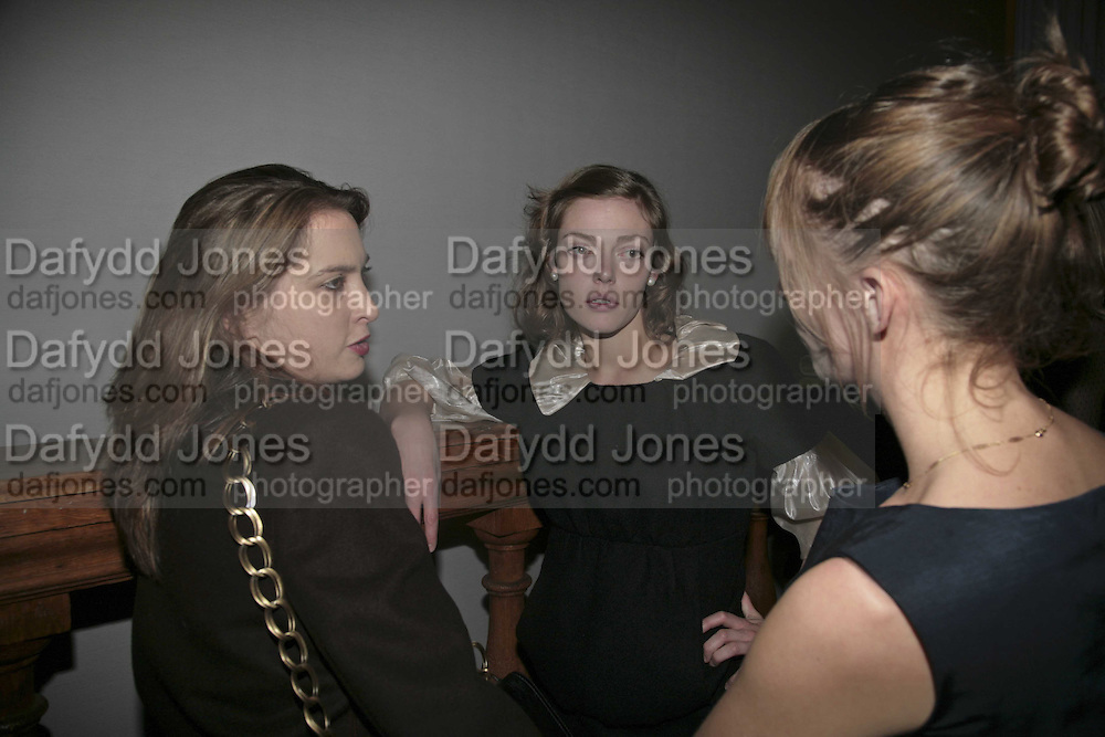 DAISY DE VILLENEUVE, CAMILLA RUTHERFORD AND  POPPY DE VILLENEUVE,  6th Annual Lanc»me Colour Designs Awards In association with CLIC Sargent Cancer Care.  Lindley Hall, Vincent Sq. London. 28 November 2006.  ONE TIME USE ONLY - DO NOT ARCHIVE  © Copyright Photograph by Dafydd Jones 248 Clapham Rd. London SW9 0PZ Tel 020 7733 0108 www.dafjones.com