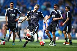 Jamie Vardy of Leicester City warms up - Mandatory byline: Jason Brown/JMP - 15/05/2016 - FOOTBALL - London, Stamford Bridge - Chelsea v Leicester City - Barclays Premier League