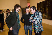 DAVID BIRKIN; DAN FOX;  JOHNNY VIVASH, Altermodern, Tate Triennial 2009, Tate Britain. London. 2 February 2009 *** Local Caption *** -DO NOT ARCHIVE-© Copyright Photograph by Dafydd Jones. 248 Clapham Rd. London SW9 0PZ. Tel 0207 820 0771. www.dafjones.com.<br /> DAVID BIRKIN; DAN FOX;  JOHNNY VIVASH, Altermodern, Tate Triennial 2009, Tate Britain. London. 2 February 2009