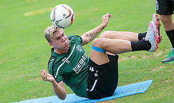 24.07.2015, Sportplatz Buergerau, Saalfelden, AUT, Trainingslager, Hannover 96, im Bild Felix Klaus (Hannover 96) // during the Trainingscamp of German Bundesliga Club Hannover96 at the Sportplatz Buergerau in Saalfelden, Austria on 2015/07/24. EXPA Pictures © 2015, PhotoCredit: EXPA/ JFK