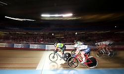 Australia's Kristina Clonan wins the Women's Scratch Race  during day six of the Six Day Series at Lee Valley Velopark, London