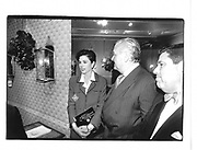 Gayfryd Steinberg, Bill Blass, Saul Steinberg at an Antiques Fair© Copyright Photograph by Dafydd Jones 66 Stockwell Park Rd. London SW9 0DA Tel 020 7733 0108 www.dafjones.com