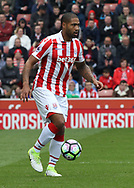 Glen Johnson of Stoke City in action against West Ham United during the Premier League match at the Bet 365 Stadium, Stoke-on-Trent.<br /> Picture by Michael Sedgwick/Focus Images Ltd +44 7900 363072<br /> 29/04/2017