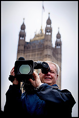 OCT 13 2014 TV Cameraman outside the House of Commons