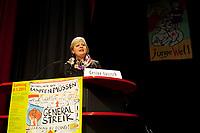 08 JAN 2011, BERLIN/GERMANY:<br /> Gesine Loetzsch, Die Linke Parteivorsitzende, haelt eine Rede, 16. Internationale Rosa-Luxenburg-Konferenz, Urania Haus<br /> IMAGE: 20110108-01-015<br /> KEYWORDS: Kommunismus, Gesine L&ouml;tzsch