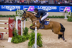 Verlooy Jos, BEL, Domino<br /> World Cup Final Jumping - Las Vegas 2015<br /> © Hippo Foto - Dirk Caremans<br /> 18/04/2015