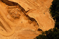 Aerial view of  moving dirt